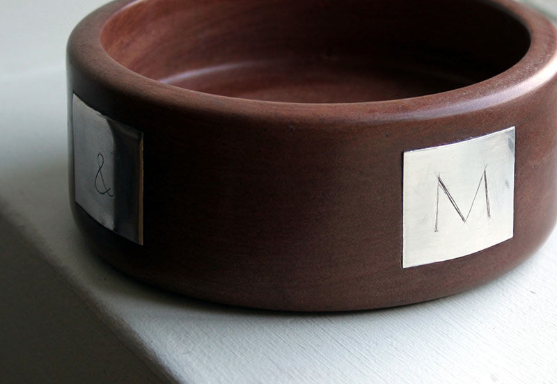 Walnut and silver bowl 2