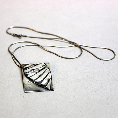 silver pendant - silverwork by James Reynolds